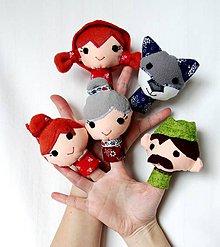 Hračky - Sada maňušiek na prst - Rozprávka o Červenej čiapočke - 7890948_