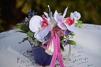 Dekorácie - Miska s orchideou - 7892839_