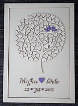 """Dekorácie - Svadobný strom """"Birds of love"""" - kniha hostí - 7889224_"""