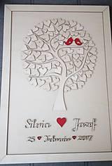 """Dekorácie - Svadobný strom """"Birds of love"""" - kniha hostí - 7889226_"""