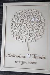 """Dekorácie - Svadobný strom """"Birds of love"""" - kniha hostí - 7889227_"""