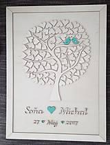 """Dekorácie - Svadobný strom """"Birds of love"""" - kniha hostí - 7889237_"""