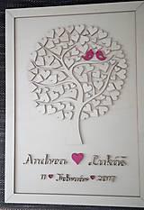 """Dekorácie - Svadobný strom """"Birds of love"""" - kniha hostí - 7889240_"""