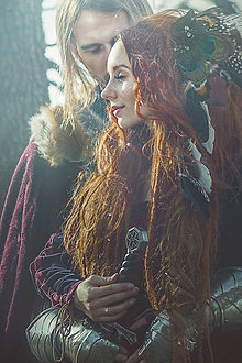Ozdoby do vlasov - Bohémsky hrebienok tmavý - 7891660_