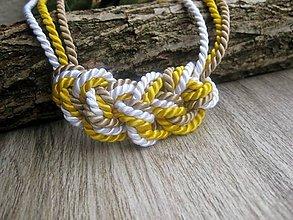 Náhrdelníky - Uzlový náhrdelník z troch šnúr - 7891218_