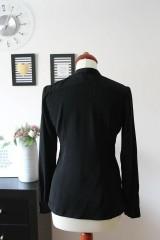 Košele - Čierna košeľa s viazačkou - 7888811_