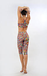 Nohavice - WOODSTOCK - Trojštvrťové legíny s jóga pásom - 7892982_