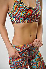 Nohavice - WOODSTOCK - Trojštvrťové legíny s jóga pásom - 7892991_