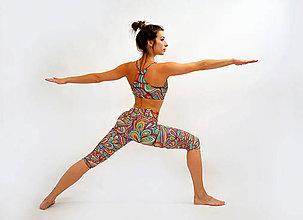 Nohavice - WOODSTOCK - Trojštvrťové legíny s jóga pásom - 7892984_