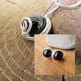 Sady šperkov - obsidián - 7892568_