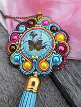 - Tytrkenit s motýlikom - súprava šperkov - 7891827_