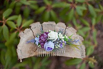 Ozdoby do vlasov - Kvetinkový hrebienok - 7893129_