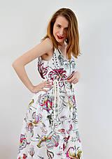 - Biele vzorované letné šaty  - 7888968_