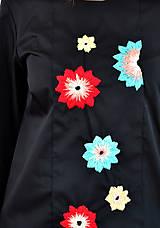 Tehotenské oblečenie - Vyšívaný top s atypickými rukávmi vol. 2  - 7889024_