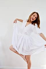 Šaty - Biele letné šaty pre vílu - 7889118_
