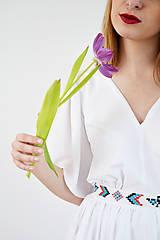 Šaty - Biele letné šaty pre vílu - 7889121_