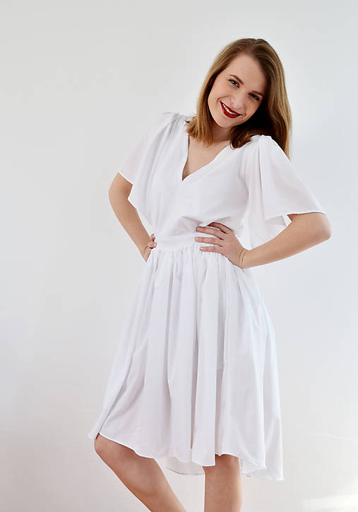 be24f2f0326a Biele letné šaty pre vílu   VivienMihalish - SAShE.sk - Handmade Šaty