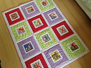 Textil - Dievčenská deka s abecedou - 7889652_