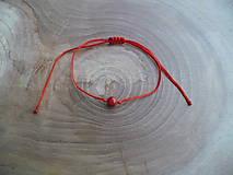 - jednoduchý šnúrkový náramok s Koralom - 7892400_