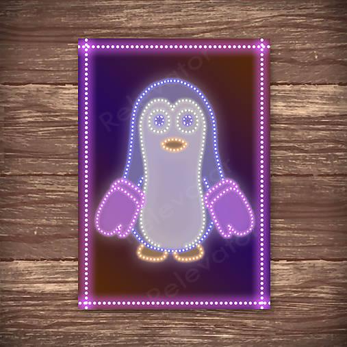 Grafické vianočné svietidlo tučniak - rukavice