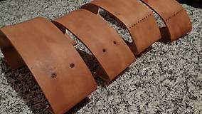 Materiál ručne robený - Kožené rúčky - 7891423_