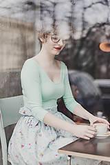 Tričká - Tričko Bamboo Rozálie mátová (výstřih vepředu i na zádech) SKLADEM (XXS) - 7894036_