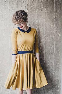 Šaty - Bamboo šaty Osudová Melánie hořčicová - 7893843_
