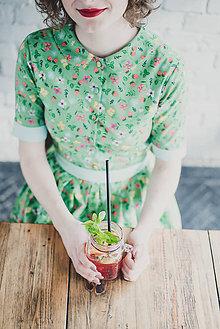 Šaty - Šaty s límečkem Jahodová zahrada - 7894421_