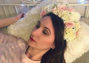 Ozdoby do vlasov - Romantická parta z ruží - 7894713_