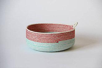 Košíky - Košík modročervený - 7895345_