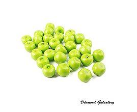 Polotovary - Dekoračná aplikácia - Jablko - zelené - 7898272_