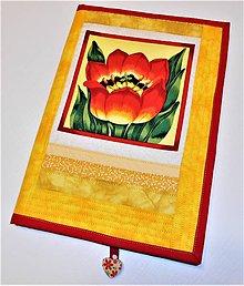 Papiernictvo - Obal na zošit - tulipán - 7897938_