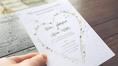 Papiernictvo - Svadobné oznámenie kvietky - 7895740_