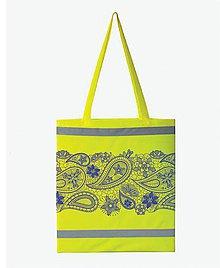 Nákupné tašky - Nákupná taška reflexná s ornamentami - 7896990_