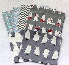 Textil - Balíček dizajnérskych látok s detskými motívmi 6 ks 40cmx50cm - 7898555_