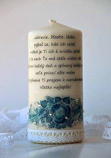 Svietidlá a sviečky - Dekoračná sviečka k narodeninám - 7897451_
