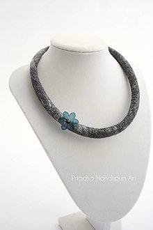 Náhrdelníky - SIMPLE - plstený náhrdelník - 7894880_