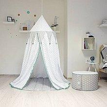 Textil - Mentolkovo sivý baldachýn s podložkou - 7894504_