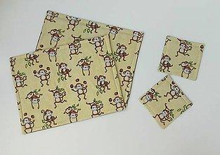 Textil - Prestieranie...veselé opičky - 7894700_