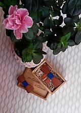 - Set- pánsky a detský drevený motýlik - 7894159_
