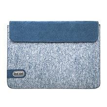 Na tablet - Tabletové plstené púzdro 10 palcové, modré FELT - 7895497_