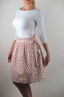 Sukne - Zavinovacia sukňa Retro small dots - 7898159_
