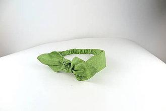 Ozdoby do vlasov - Čelenka Green - 7898230_