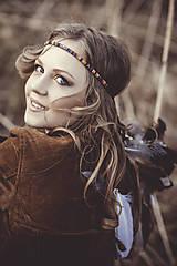 Ozdoby do vlasov - Bohatá elastická hippie čelenka - 7897582_