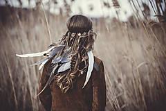 Ozdoby do vlasov - Bohatá elastická hippie čelenka - 7897584_
