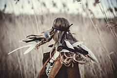Ozdoby do vlasov - Bohatá elastická hippie čelenka - 7897585_