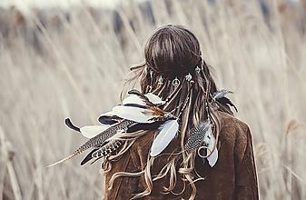 Ozdoby do vlasov - Bohatá elastická hippie čelenka - 7897588_