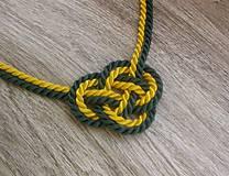 Uzlový náhrdelník (zeleno žltý č.788)