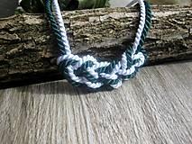 Náhrdelníky - Uzlový náhrdelník z dvoch šnúr - 7896742_