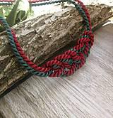 Náhrdelníky - Uzlový náhrdelník z dvoch šnúr - 7896827_